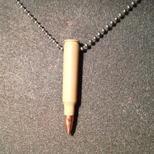 Load image into Gallery viewer, .223 Bullet Necklace in Desert Tan