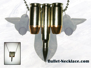 The SR71 Bullet Necklace in Nickel Plate