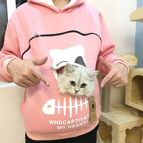 Animal Pouch Hood Tops Carry Cat Tops