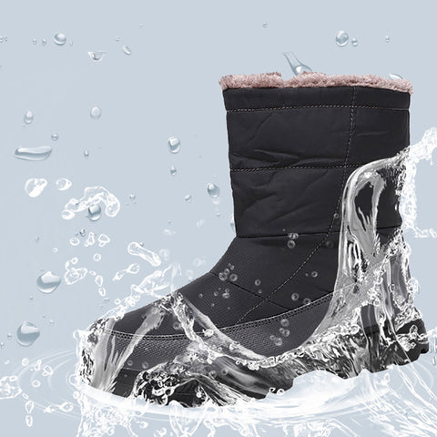 Plus Velvet Waterproof Snow Cotton Boots