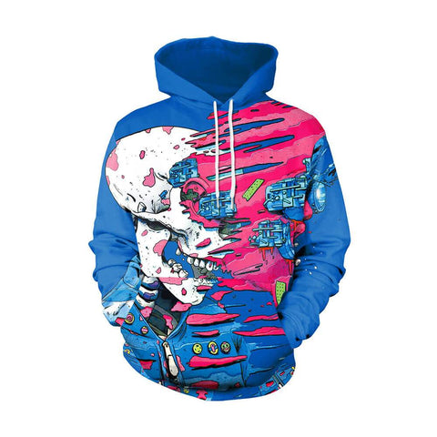 Skull Punk Couples Long Sleeve Hoodie | Casualivia