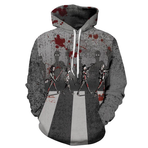 Skeleton 3D Print Long Sleeve Hoodie | Casualivia