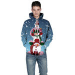 Christmas 3D Printing Couples Hoodie | Casualivia