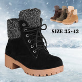 Square Heels Keep Warm Snow Boots