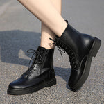 Fashion Leisure Lace-Up Zipper Short Boots