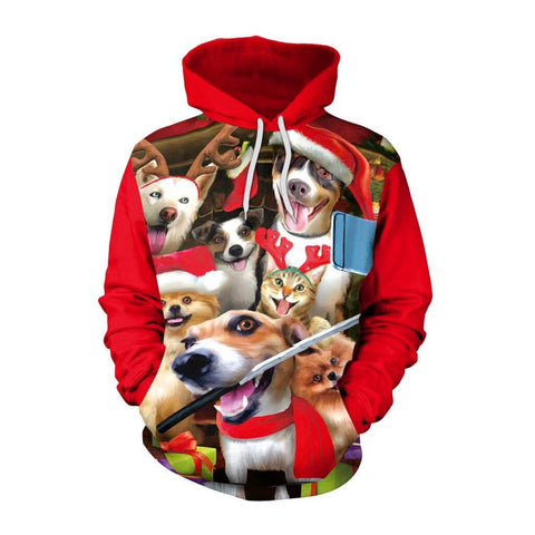 Christmas Fun Ugly Dogs 3D Print Hoodie | Casualivia