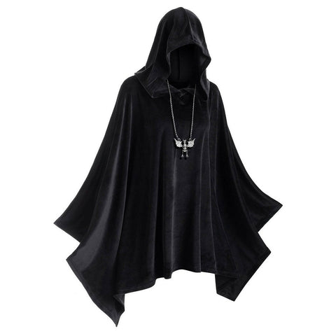 Plus Size Hooded Velvet Poncho | Casualivia
