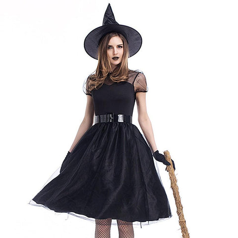 4PC Halloween Costume Dress Hat Belt Gloves Suit | Casualivia