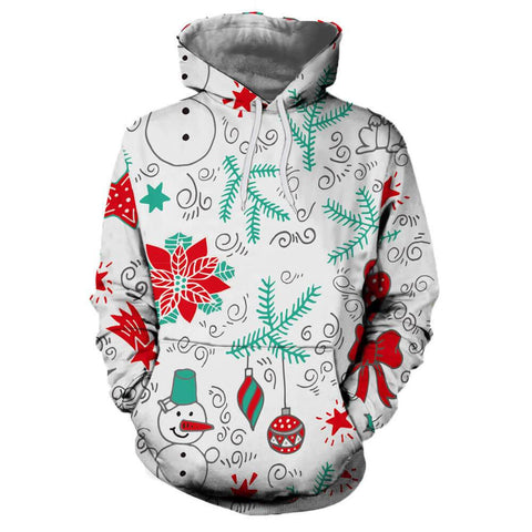Couple Christmas Printing Long Sleeve Hoodie | Casualivia