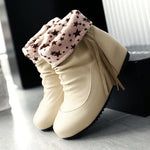 Tassel Soft Non-Skid Braided Belt Boots