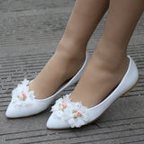White Wedding Single Shoes
