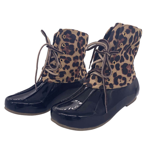 Leopard Rain Footwear Lady's Garden Ready Shoes