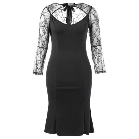 Halloween Party Cobweb Hollow Out Yarn Dress | Casualivia