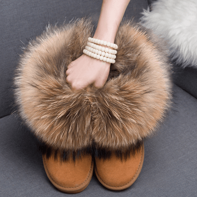 Fox Fur Brand Winter Boots