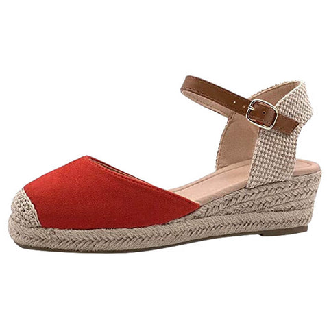 Women' Buckle Ankle Strap Sandals Wedges