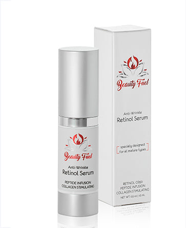 Anti-Wrinkle Retinol Serum product and box