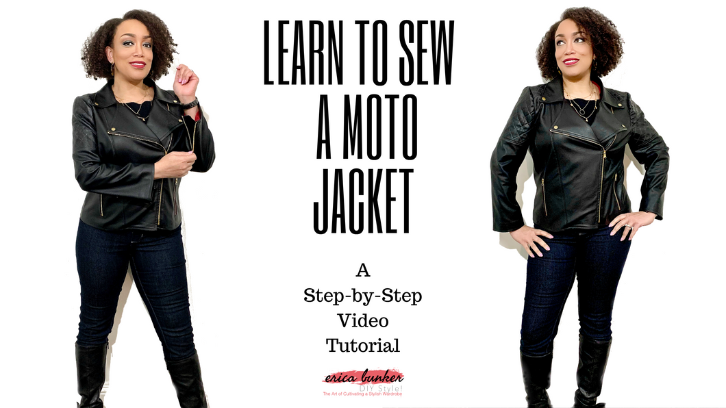Learn to Sew a Moto Jacket -- A Step-by-Step Video Tutorial