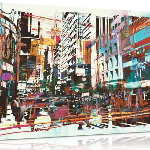 Abstract Modern Cityscape Canvas
