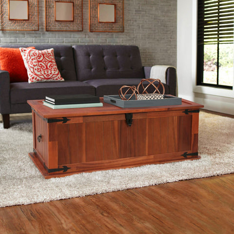 Wooden Chest Coffee Table
