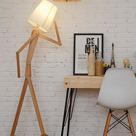 Wooden Character Floor Lamp