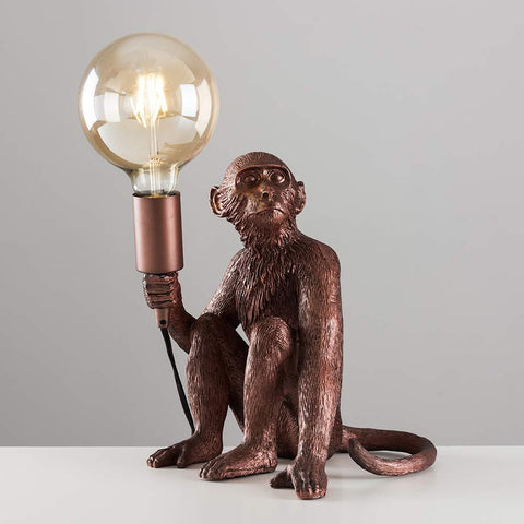 Copper Monkey Lamp