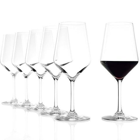 Set Of 6 Red Wine Glasses - 490ml