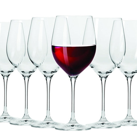 Set Of 6 Red Wine Glasses - 450ml