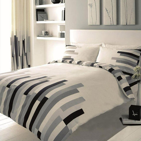 Block Striped Duvet Set