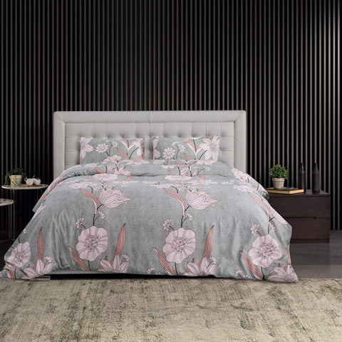 Grey Oracle Floral Duvet Set