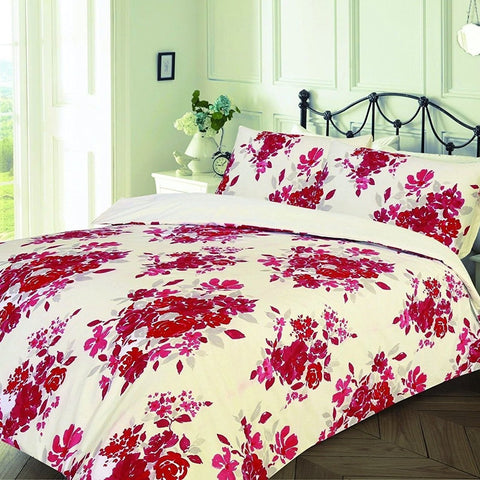 Florence Red Flowered Duvet