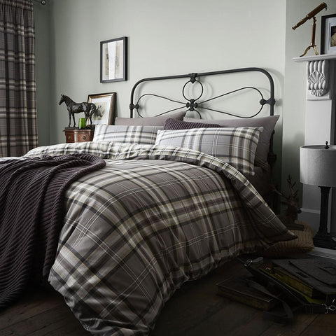 Charcoal Checkered Duvet Set
