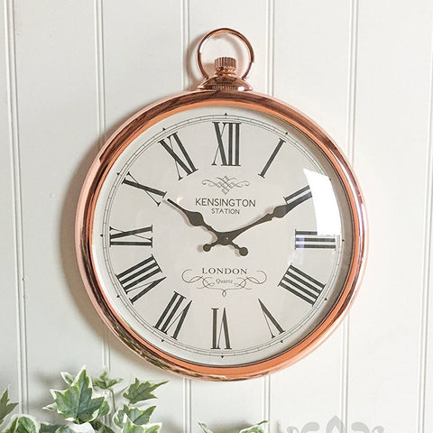 Large Copper Wall Clock