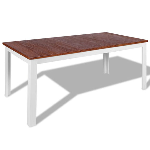 Solid Teak Mahogany Dining Table - 180 x 90 x 75 cm