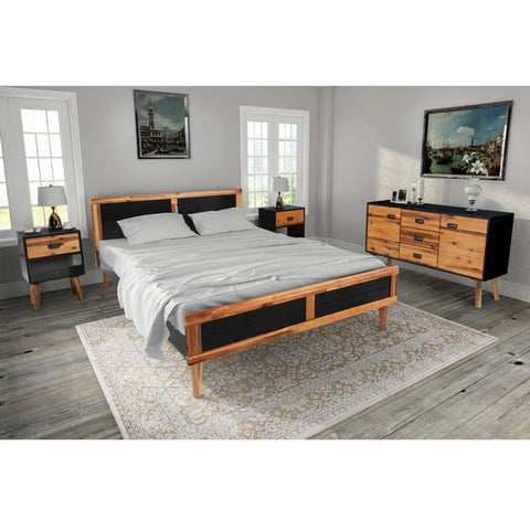 Four Piece Bedroom Furniture Set - Solid Acacia Wood