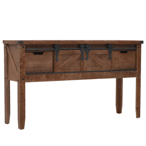 Solid Wooden Brown Console Table
