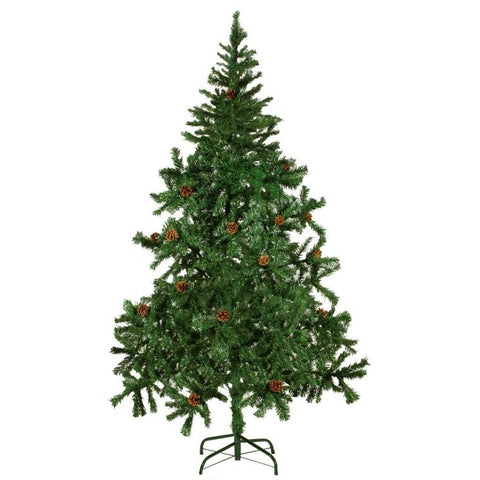 Artificial Christmas Tree with Pinecones - 180 cm