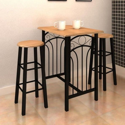 Black Breakfast Dining Table Set