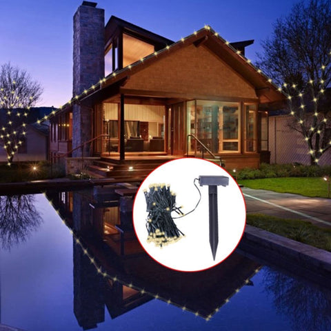 LED Solar String Lights Christmas Decoration - Warm White