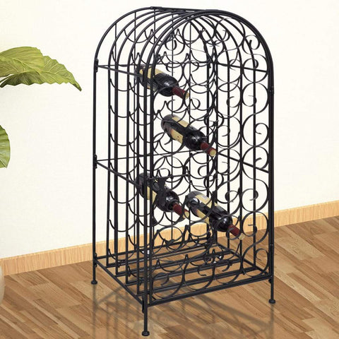 Metal Wine Cabinet Rack - 35 Bottles