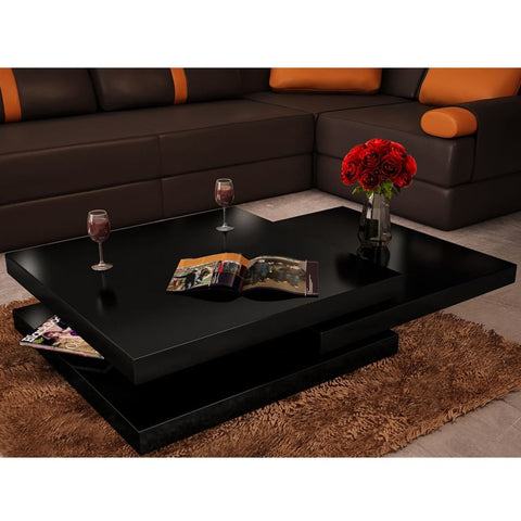 Black 3 Layer High Gloss Coffee Table