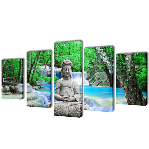 Buddha Canvas Wall Print Set - 100 x 50 cm