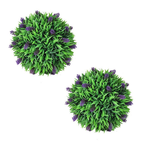 Set of 2 Artificial Boxwood Ball with Lavender 36 cm