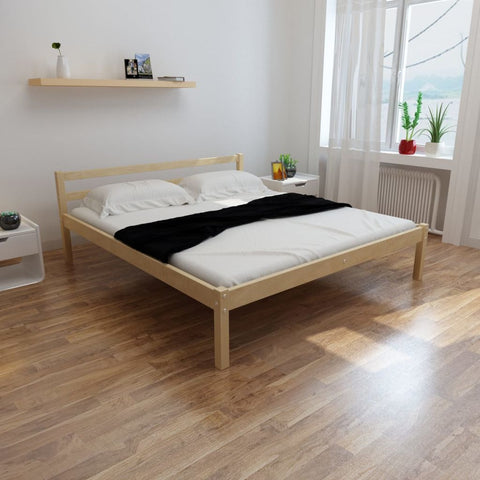 Super King Solid Pinewood Bed