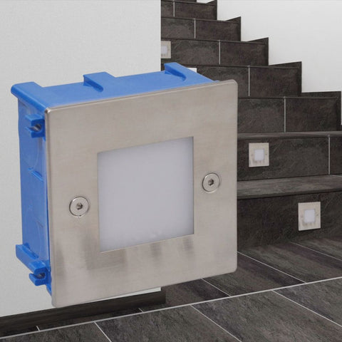 2 LED Recessed Stair Light - 85 x 48 x 85 mm