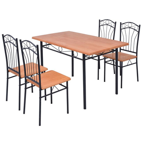 Brown Five Piece Dining Set