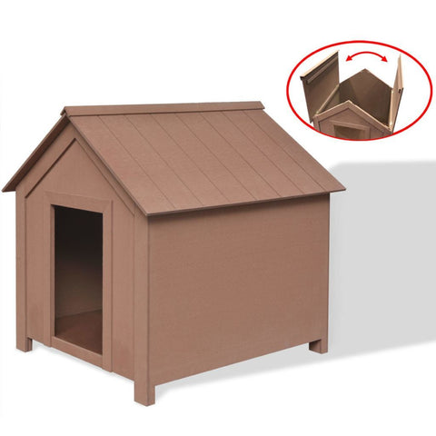 Brown Dog House - 73.5 x 68 x 74 cm