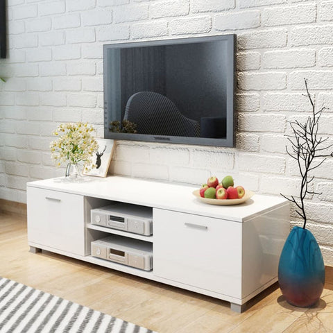 High-Gloss White TV Cabinet