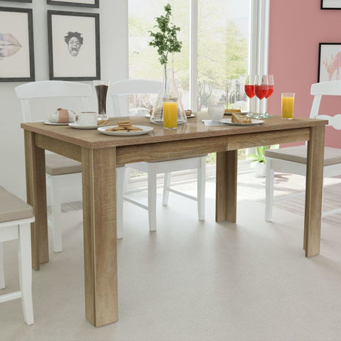 Oak Dining Table - 140 x 80 x 75 cm