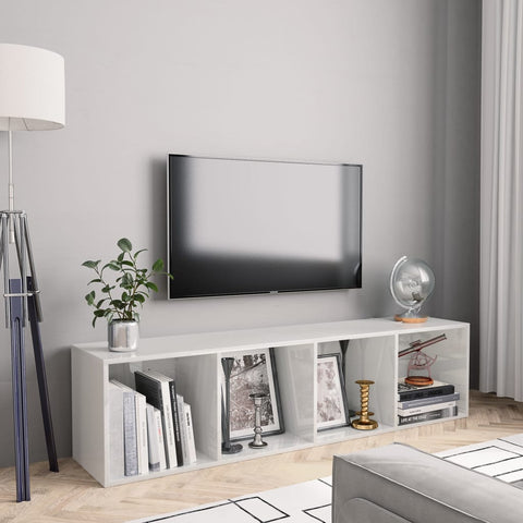 Gloss White Book Cabinet/TV Cabinet