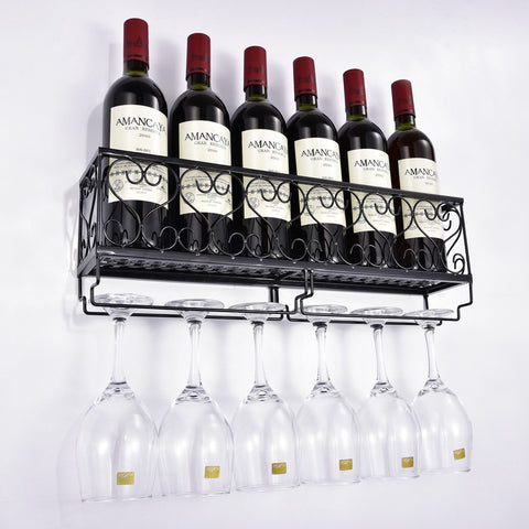 Wall Mounted Wine Rack
